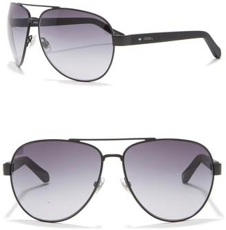 Fossil Aviator 63mm Sunglasses