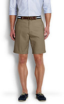 "Classic Men's 9"" Plain Front No Iron Chino Shorts-Steeple Gray"