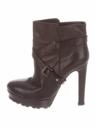 Belstaff Leather Moto Boots Black