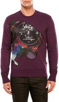 Just Cavalli Record Graphic Sweatshirt