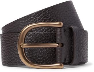 Tom Ford 4cm Dark-Brown Full-Grain Leather Belt