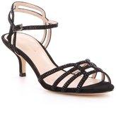 Pelle Moda Alia Rhinestone-Embellished Suede Dress Sandals