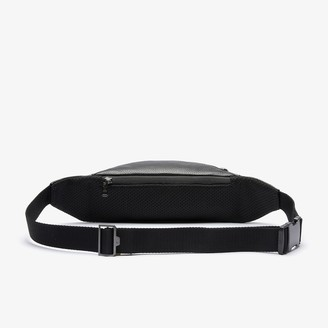 Lacoste Men's Soft Mate Matte Full-Grain Leather Zippered Fanny Pack
