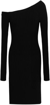 Helmut Lang One-shoulder Stretch-silk Mini Dress