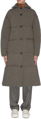 Oyuna Quilted cashmere wool blend coat