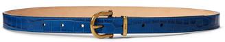 Ralph Lauren Crocodile-Stamped Leather Belt