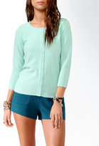 Forever 21 Fitted 3/4 Sleeve Cardigan