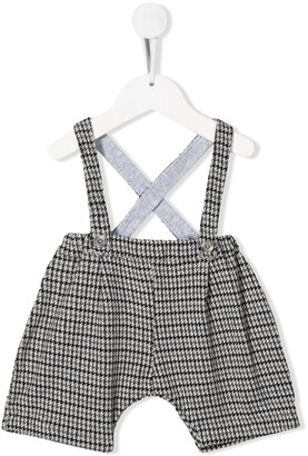 Aletta Houndstooth Trousers With Suspenders