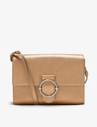 Claudie Pierlot Anouck metallic leather cross-body bag