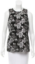 Prabal Gurung Brocade Sleeveless Top