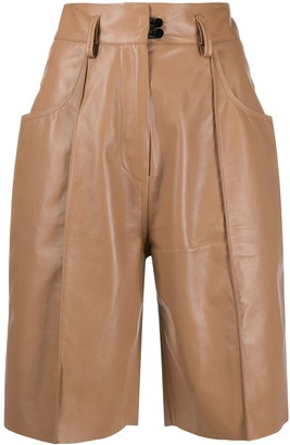 Petar Petrov High-Waisted Pleated Shorts