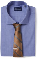 The Tie Bar Blue Mini Houndstooth Non-Iron Shirt