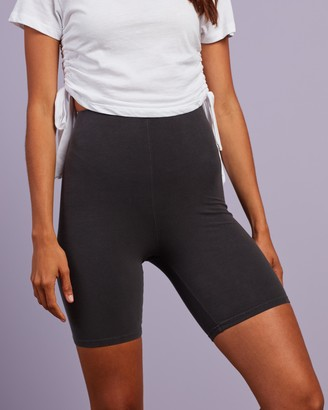 Nude Lucy Women's Grey High-Waisted - Nude Classic Bike Shorts - Size XS at The Iconic