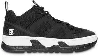 Burberry Monogram Motif Mesh and Nubuck Sneakers