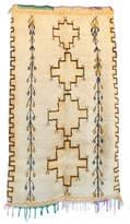 "Indigo&Lavender Vintage Azilal Moroccan Berber Rug, 4'7"" x 8'0"" feet"