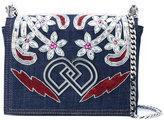 DSQUARED2 embroidered denim shoulder bag