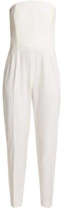 Pallas X Claire Thomson-jonville - Divine Satin-trimmed Wool-crepe Jumpsuit - Womens - Ivory