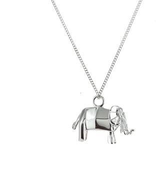 Origami Jewellery Mini Elephant Necklace Silver