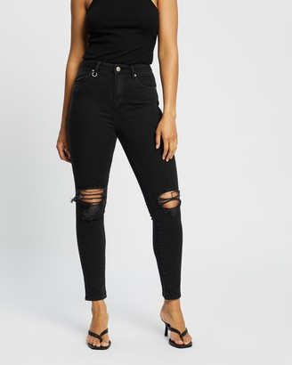Neuw Women's Black High-Waisted - Marilyn Skinny Jeans - Size 29 at The Iconic