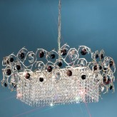 Foresta Colorita 8 - Light Unique / Statement Geometric Chandelier Classic Lighting Finish: Natural Bronze, Crystal Color: Amber Green/Amethyst