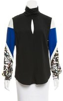 Peter Pilotto Long Sleeve Mock Neck Top