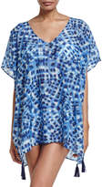 Seafolly Ikat-Print Caftan Coverup, One Size