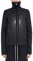 Rick Owens Embroidered Zip Front Jacket