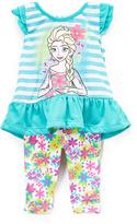 Children's Apparel Network Frozen Elsa Ruffle Tee & Leggings - Toddler