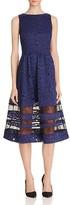 Alice + Olivia Odelia Lace Midi Dress