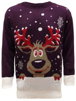 GirlsWalk Girls Walk Mens Unisex Knitted Christmas Jumper Reindeer Sweater