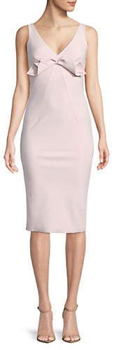 Chiara Boni Bow Sleeveless Midi Dress