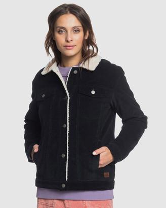 Roxy Womens Details Matter Sherpa Lined Cord Jacket