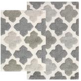 Alloy Moroccan Tiles Cotton Bath Rugs (Set of 2)