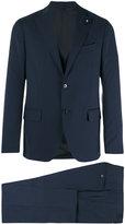 Lardini two piece slim-cut suit - men - Cotton/Polyester/Cupro/Wool - 48