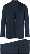 Lardini two piece slim-cut suit - men - Cotton/Polyester/Cupro/Wool - 50