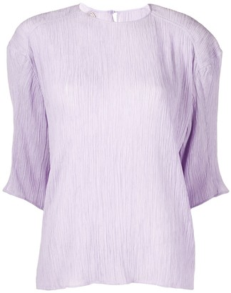 Nina Ricci Pleated Half Sleeves Blouse