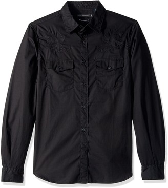 French Connection Men's Falcon Crested Button Down Shirt