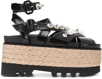 Simone Rocha Crystal-Embellished Platform Sandals