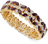 Charter Club Clear & Colored Crystal Stretch Bracelet, Created for Macy's