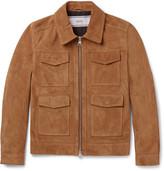 Ami Slim-fit Suede Jacket