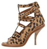 Givenchy Cheetah Print Cage Sandals