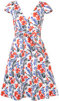 Carolina Herrera floral cap sleeve dress - women - Cotton/Spandex/Elastane - 6