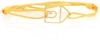 ALIITA Casita Brillante 9kt cord bracelet with gold and diamond