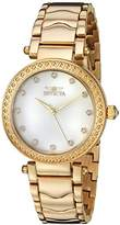 Invicta Women's 'Wildflower' Quartz and Stainless Steel Casual Watch, Color:Gold-Toned (Model: 23964)