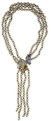 Alexis Bittar Faux Pearl & Crystal Multistrand Necklace
