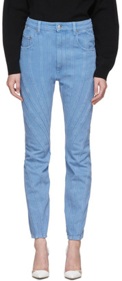 Thierry Mugler Blue Twist Jeans