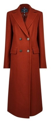 Dorothy Perkins Womens **Tall Tobacco Double Breasted Wool Look Coat