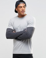 Asos Muscle Long Sleeve T-Shirt With Double Layer Effect