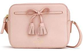 Kate Spade Hayes Street Bow-embellished Pebbled-leather Shoulder Bag