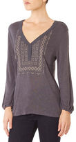 Sanctuary Long Sleeve Embroidered Boho Top
